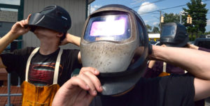 solarEclipse with welding helmet